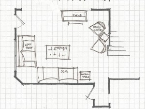 Simple Living Room Layout With Corner Fireplace